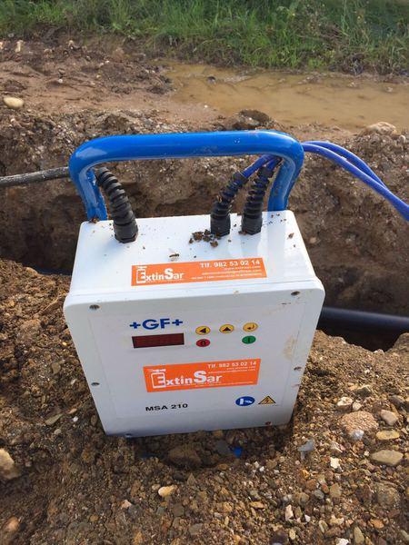 Máquina profesional de electrofusión para polietileno