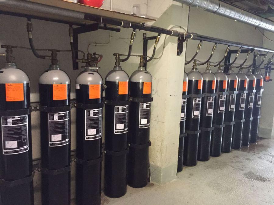 Botellas de extinción (instalación y mantenimiento)